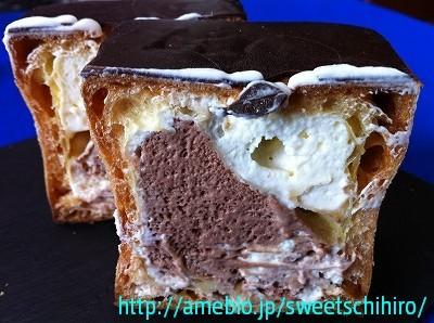 グルメレポーターちひろの辛口スイーツランキング-四角いシュークリーム(チョコ色)2
