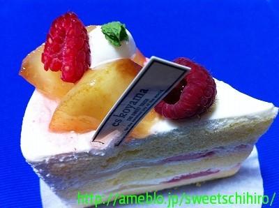 大阪スイーツレポーターちひろの辛口スイーツランキング ~スーパースイーツ男子がスイーツを斬る~-エスコヤマの白桃のショートケーキ
