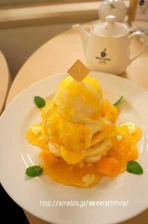 大阪スイーツレポーターちひろの辛口スイーツランキング-ブラザーズカフェ マンゴーパンケーキ