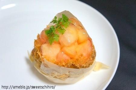 大阪スイーツレポーターちひろの辛口スイーツランキング-エスコヤマ 白桃のクリームパイ