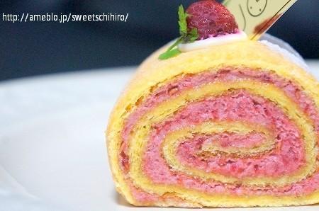 大阪スイーツレポーターちひろの辛口スイーツランキング-木いちごのロールケーキ