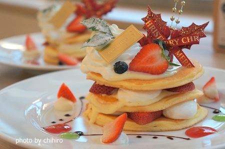 大阪スイーツレポーターちひろの辛口スイーツランキング-ブラザーズカフェ クリスマスパンケーキ