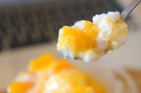 $大阪スイーツレポーターちひろのおいしいスイーツランキング-モスバーガーの絶品かき氷 マンゴーフラッペ