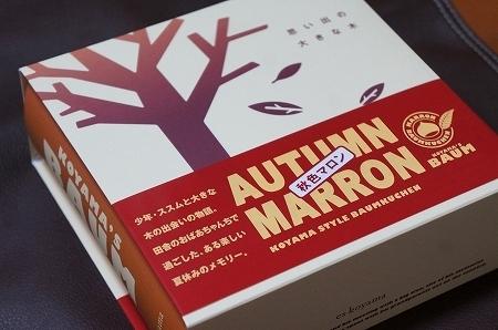 $大阪スイーツレポーターちひろのおいしいスイーツランキング-エスコヤマ 小山バウム 秋色マロン
