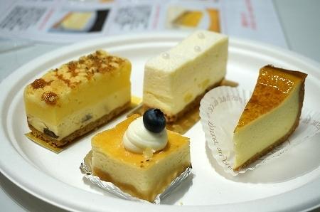 三越伊勢丹 チーズケーキ食べ比べ
