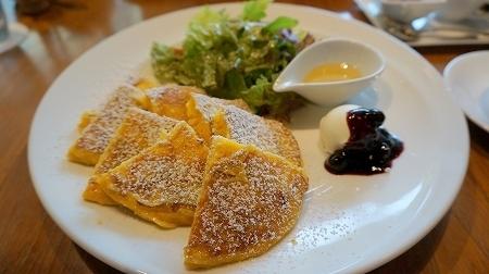 ラテラスカフェエデセール モーニングパンケーキ