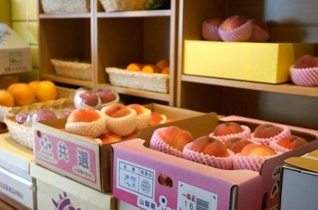 ミキフルーツカフェ 旬の桃パフェ