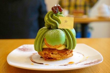 福島スイーツ パティスリークロッシェ 抹茶のサントノーレ