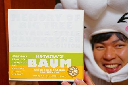 エスコヤマ 小山流バウムクーヘン 抹茶&パッションフルーツ