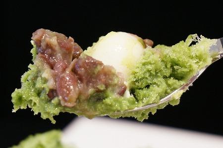 北堀江 和カフェ なが岡 宇治抹茶ミルク金時氷