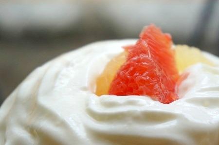 奈良かき氷 ほうせき箱 グレープフルーツエスプーマかき氷