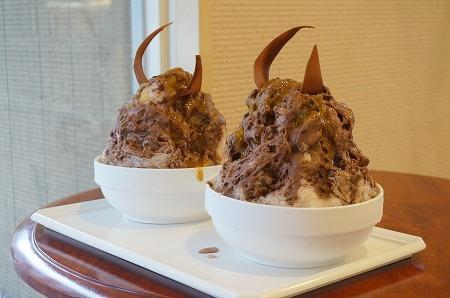 奈良 パティスリーカラク チョコレートかき氷