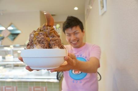 奈良 パティスリー カラク チョコレートかき氷