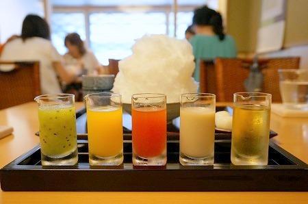京都 かき氷 ニ條若狭屋 彩雲 5種類シロップかき氷