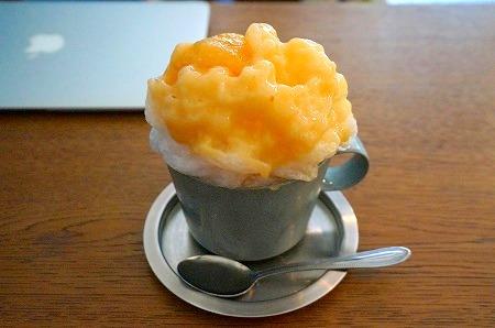 コチカフェ かき氷 ジューシー桃