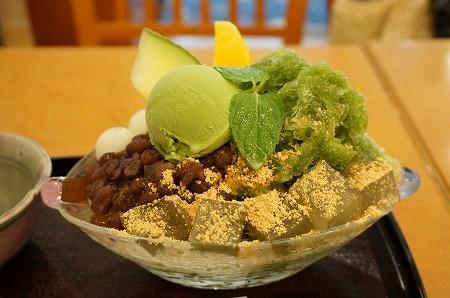 阪急三番街 帝塚山 季 かき氷 スペシャル氷みつ豆わらびのせ