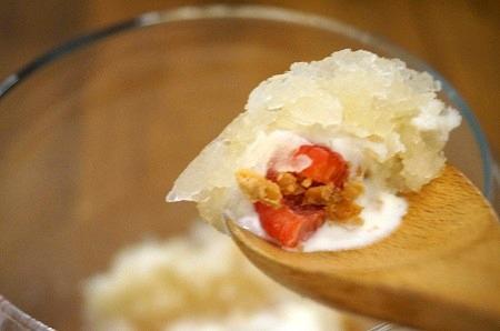 フレンチマーケット アシェットデセール ライチと桃のかき氷
