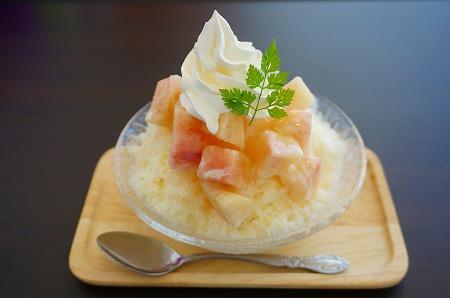 トルクーヘン 桃のかき氷