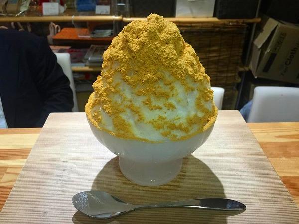 キャラメルミルクチョコレートかき氷@ほうせき箱