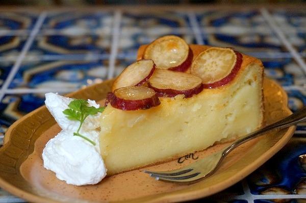 南船場 カフェみもざ さつまいものケーキ