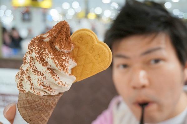 阪急うめだバレンタインチョコレート博覧会 BIBBIティラミスソフトクリーム