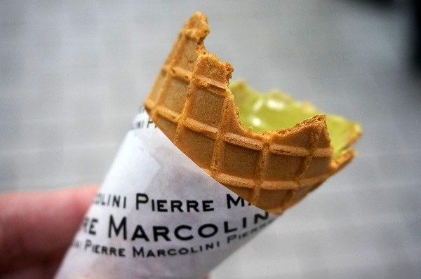 阪急うめだバレンタインチョコレート博覧会 ピエールマルコリーニ抹茶ソフトクリーム