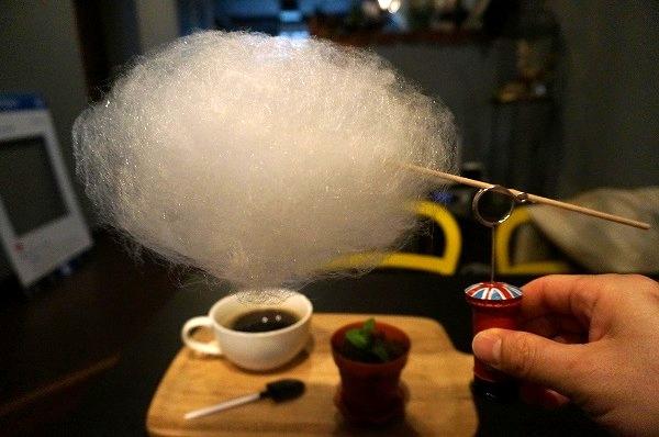 京都カフェ アルファフードアンドドリンク 雲下コーヒー 綿菓子