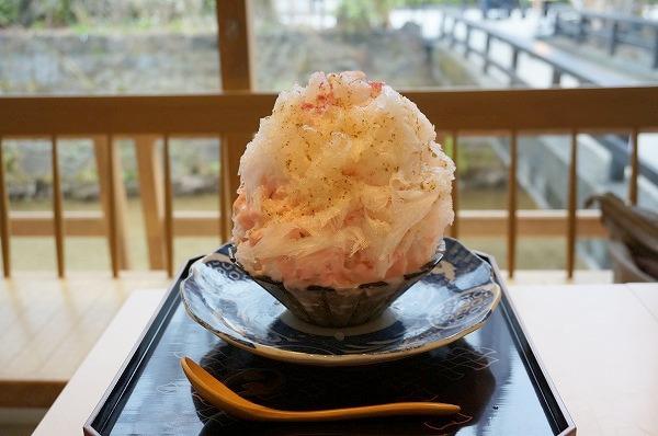 京都祗園 かき氷 たすき PASS THE BATON 桜餅