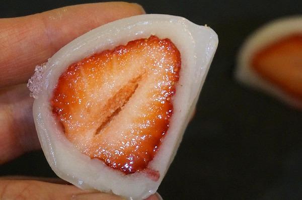 吹田市 和菓子 松竹堂 苺フルーツ餅