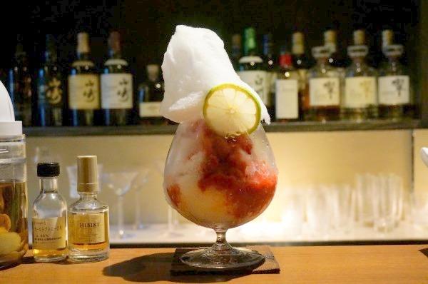 大阪梅田 Lounge&Mixology Bar 華「綿菓子カクテルかき氷」
