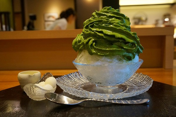 京都  清水一芳園 宇治抹茶エスプーマかき氷