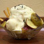 お芋スイーツ好き必食!かき氷専門店えびすの炙りスイートポテトかき氷はお芋が存分に楽しめるスイーツです!