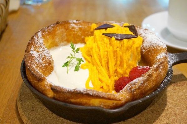 ブランカフェ心斎橋 かぼちゃのハロウィンダッチベイビーパンケーキ
