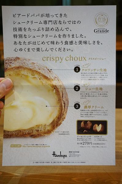 阪急百貨店うめだ本店 ビアードパパグランデ シュークリーム